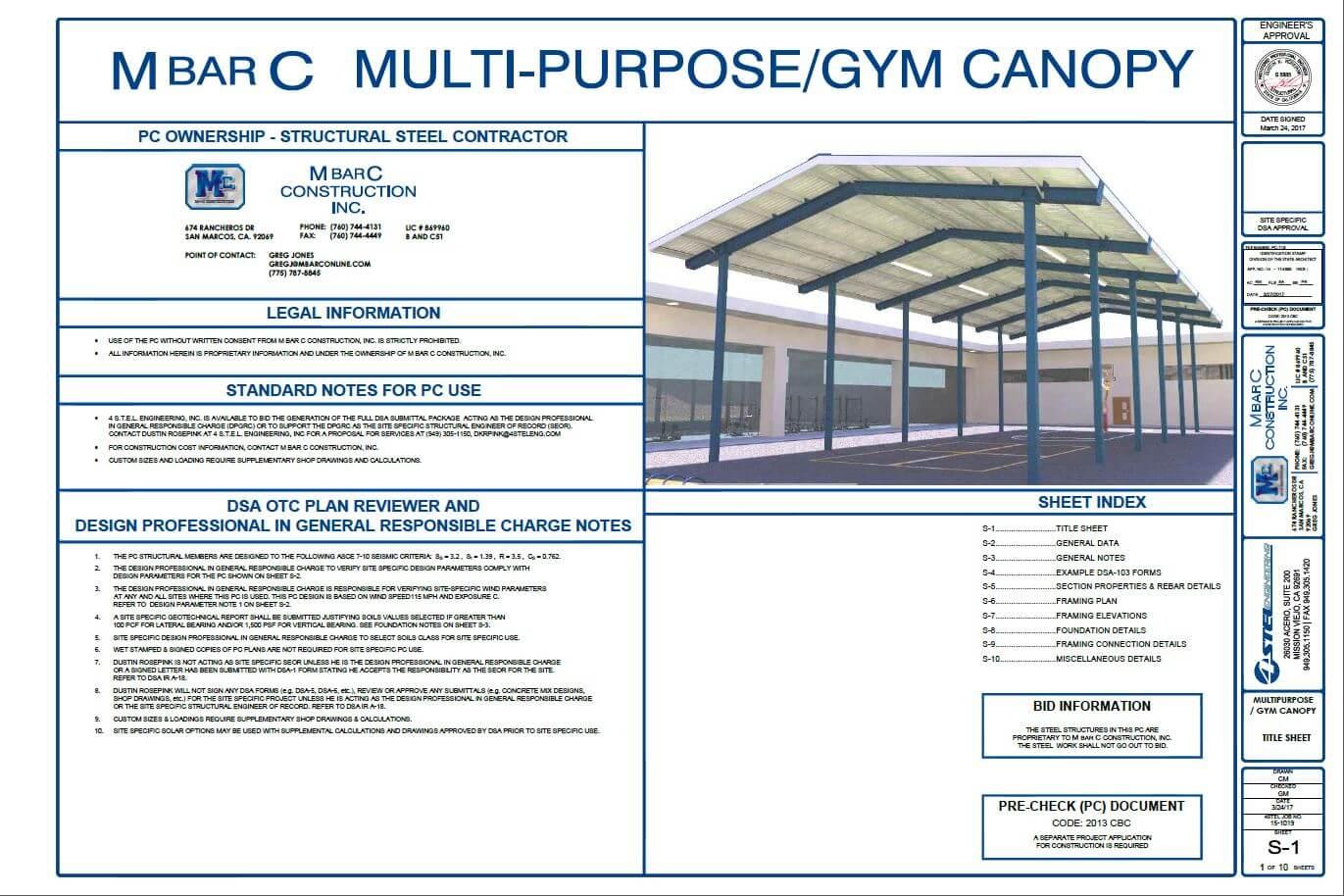 Multi-Purpose/Gym Canopy