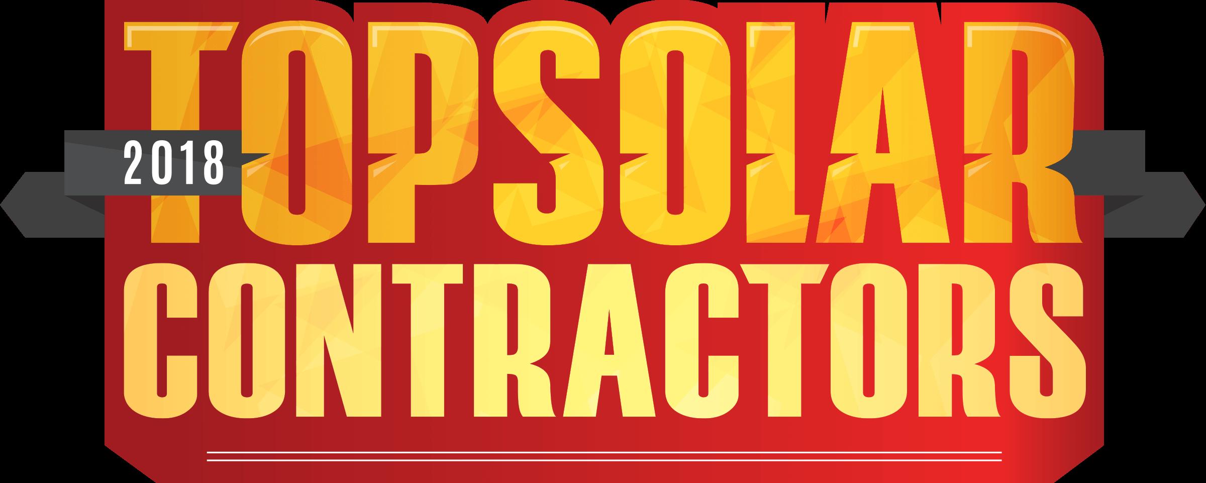2018 Top Solar Contractors Logo
