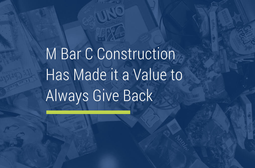 Giving Back, the M Bar C Way!