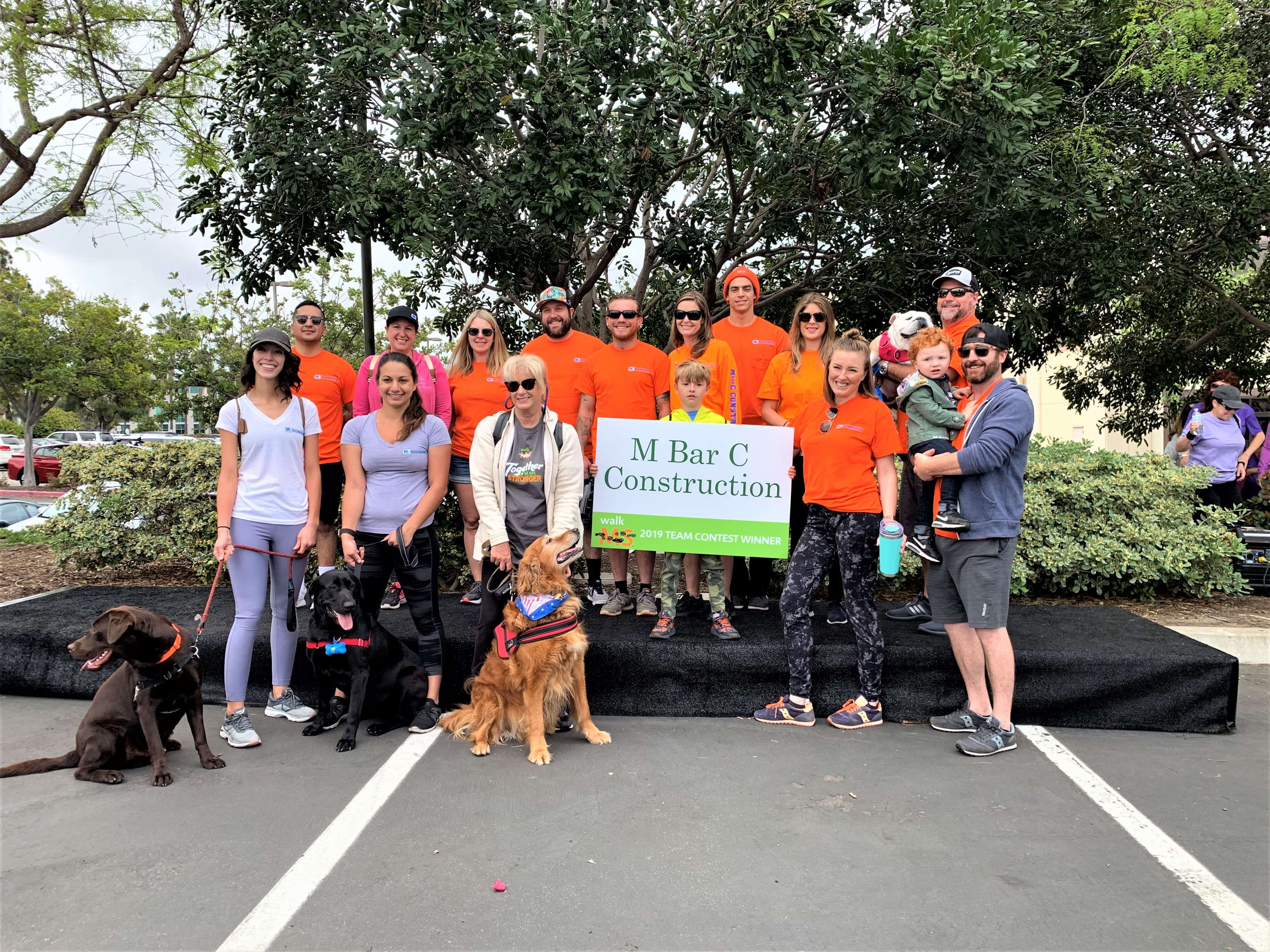 Thanks for coming out to the annual Carlsbad Walk MS event with M Bar C Construction