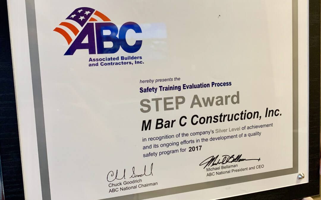 M Bar C Construction Receives ABC STEP Safety Award