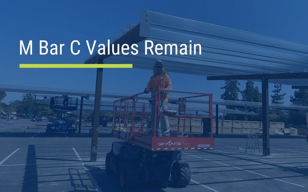 M Bar C Values Remain