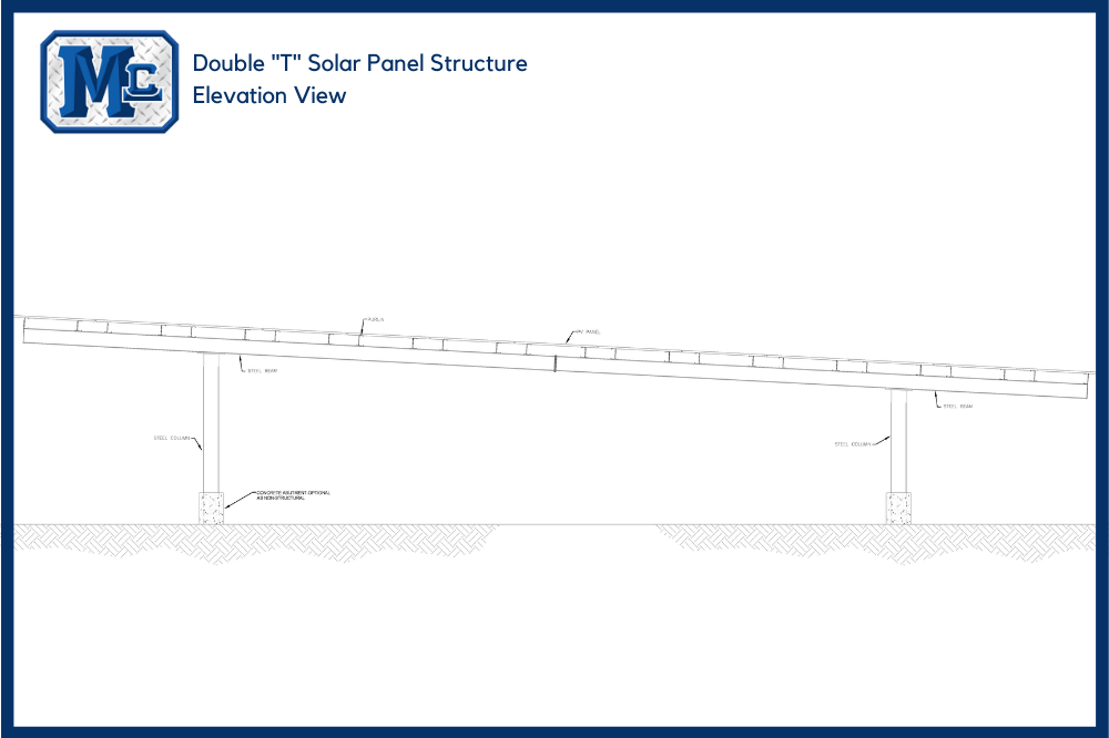 Double T Solar Panel Structure