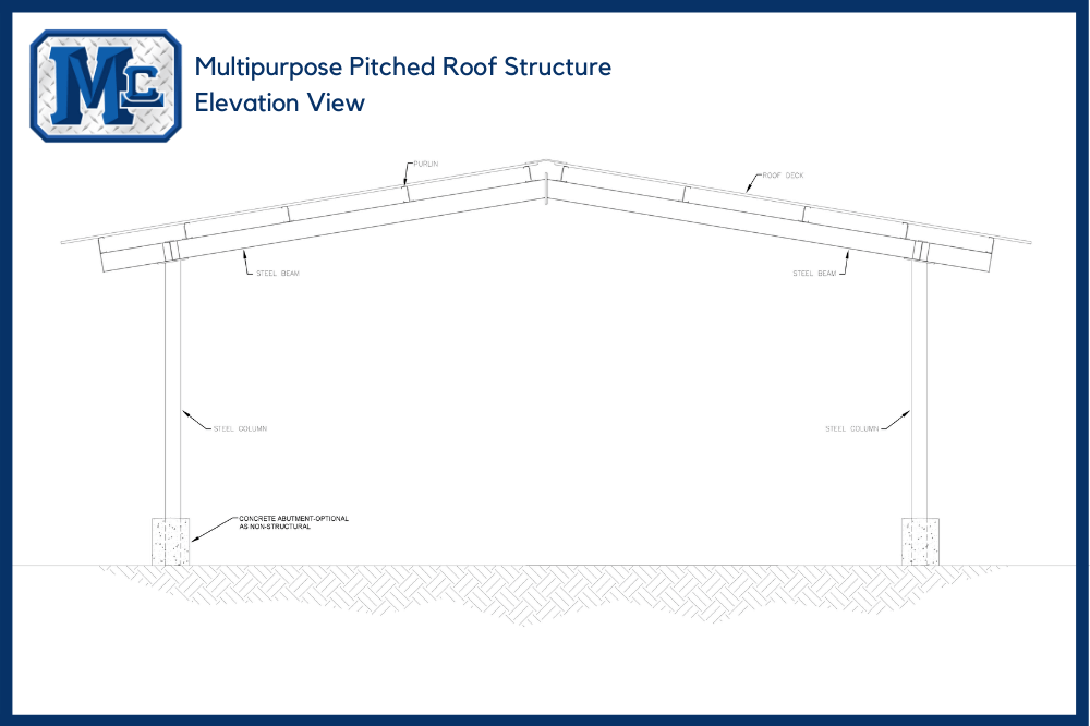 Multipurpose Pitched Roof Structure