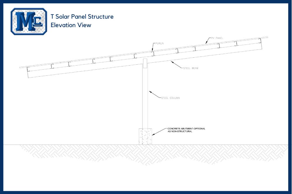 T Solar Panel Structure
