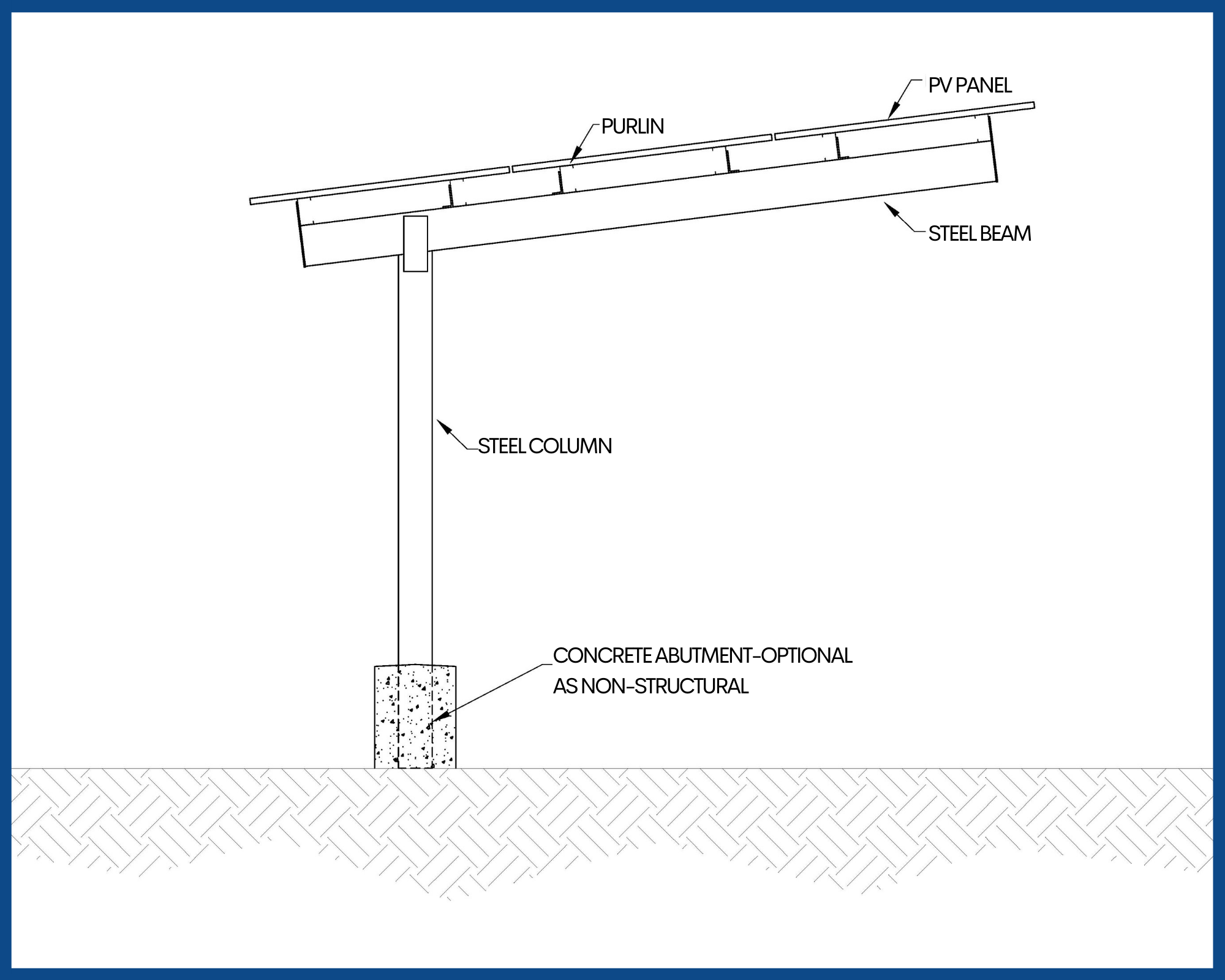Semi Cantilever Carport - Solar