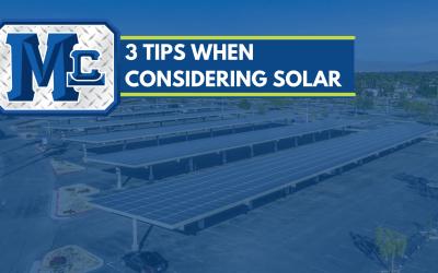3 Tips When Considering Solar Carports